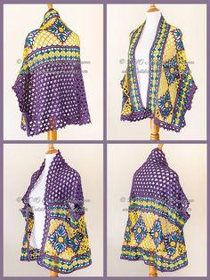 New crochet pattern - Open Front crochet Motif Cardigan Shrug from Outstanding Crochet