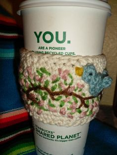 Ravelry: Coffee Cup Cozy pattern by Carly Balzer
