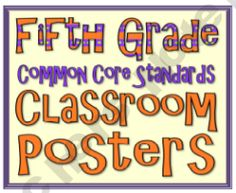 Fifth Grade Common Core Posters