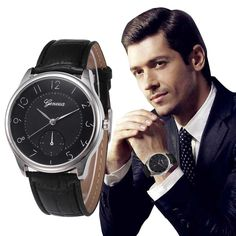 Cheap watch leather, Buy Quality watch videos mobile phone directly from China watch circle Suppliers: Woman Mens Retro Design Leather Band Analog Alloy Quartz Wrist Watch Gift relogio feminino masculino Uhren relojes Conception En Cuir, Watch Brands, Fashion Watches, Watches For Men, Wrist Watches, Women's Watches, Geneva Watches, Jewelry Watches, Vintage Men