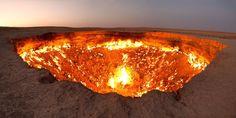 Sim, estes 30 lugares ficam mesmo no planeta Terra_ Portões para o Inferno, Turquemenistão.