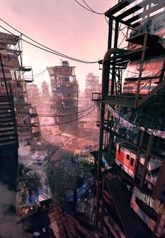 ArtStation - Ready Player One - The Stacks, Lincoln Hughes