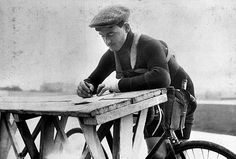 Francois Faber Luxembourgian racing cyclist second of the Tour de France 1908 signing the form of control RV326361