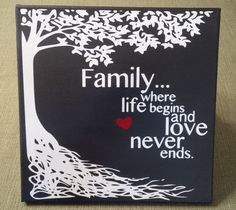 Family... where life began and love never by KimmsHomeDecor
