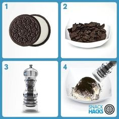 Use a pepper grinder as an Oreo topping dispenser. | 51 Insanely Easy Ways To Transform Your Everyday Things