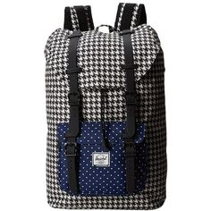 Herschel Supply Co. Little America Mid-Volume found on Polyvore featuring polyvore, fashion, bags, backpacks, laptop backpacks, herschel supply co., shoulder strap bag, padded laptop backpack and backpack laptop bag