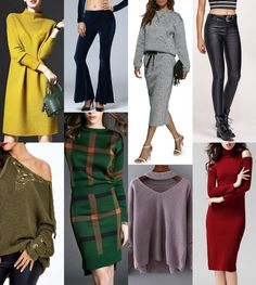 Tips to Choose a Thanksgiving Outfit. Over-sized sweaters, knit sweater dress, two piece, velvet pants, faux leather pants, off-the-shoulder dress, lace-up sweater, choker.  Sammy Dress Giveaway and Gift Card