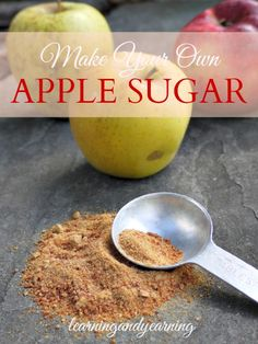 to Make Apple Sugar Has it been a great year for apples? Learn how to use them to make apple sugar to sweeten winter treats.Has it been a great year for apples? Learn how to use them to make apple sugar to sweeten winter treats. Homemade Spices, Homemade Seasonings, Plat Vegan, Real Food Recipes, Healthy Recipes, Winter Treats, Dehydrated Food, Dehydrated Bananas, Dehydrator Recipes