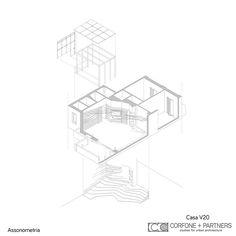 CORFONE+PARTNERS - Axonometric view - VVZ6 HOUSE