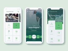 Golf Club Mobile App by Dream . Best Picture For App Design logo For Your Tas. Ui Design Mobile, App Ui Design, Interface Design, Design Design, Flat Design, Best Ui Design, Design Thinking, To Do App, Android App Design