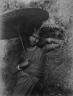 Tamil girl, Skeen & Co., Ceylon ca. 1860–1890, albumen silver print, Rubin Museum of Art