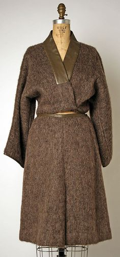 Bonnie Cashin suit in mohair and leather. Fall/Winter 1974-1975. Gift of Helen and Phillip Sills Collection of Bonnie Cashin Clothes, 1979. The Metropolitan Museum of Art online collection.