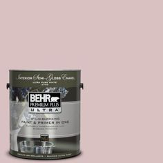 BEHR Premium Plus Ultra 1-gal. #PPU17-8 Peony Blush Semi-Gloss Enamel Interior Paint-375001 - The Home Depot