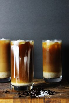 Cold brewed Sea Salt Coffee is the most amazing cold brewed coffee drink you've probably never tried. Iced Coffee sweetened slightly is topped with a whipped cream with a sprinkle of sea salt. Coffee Calories, Cold Brew Coffee Recipe, Iced Coffee Drinks, Salt And Ice, Ice Cream Floats, Coffee Latte, Coffee Shop, Great Coffee, Easy Coffee