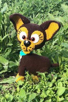 СХЕМА вязания собачки крючком #вязанаяигрушка #игрушкикрючком #вязанаясобака #amigurumipattern #crochetpattern #amigurumidog #crochetdog Crochet Hats, Chrochet, Animals, Knitting Hats
