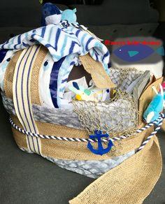 Nautical theme baby shower Blanket bassinet