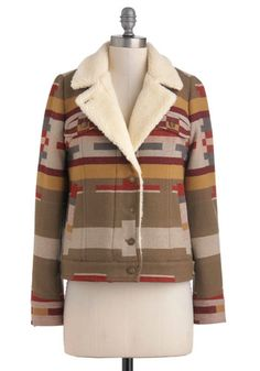 Pendleton Hut, Hut, Hike Jacket by Pendleton - 4, Multi, Red, Green, Brown, Tan / Cream, Buttons, Pockets, Long Sleeve, Casual, Rustic, Fall, Winter