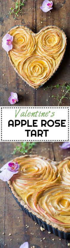 An apple rose tart that will make your loved one drop their chin! Crunchy nut crust, sweet apples & maple custard, what else can you want in life? via @greenhealthycoo