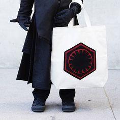 Bolso de lona con el símbolo de la Primera Orden