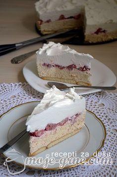 Torte Recepti, Kolaci I Torte, Baking Recipes, Cake Recipes, Dessert Recipes, Sweet Desserts, No Bake Desserts, Banana Pudding Cheesecake, Torte Cake