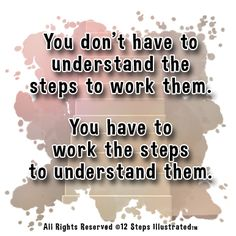 Work to Understand - 12 Steps Illustrated