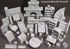 Hirst Arts Fantasy Architecture Inc. Build your own castles easily. - some of this good for minis