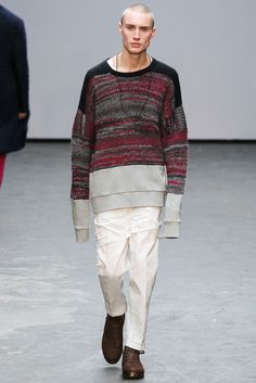 KNIT WITH SWEAT LONGLINE Casely-Hayford Fall 2015 Menswear - Collection - Gallery - Style.com