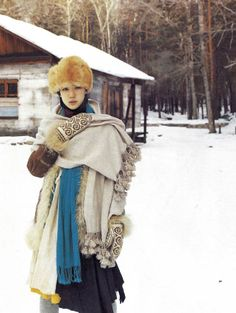 """Japanese actress and model Yu Aoi photographed by Takahashi Yoko on her trip around Russia for the photobook """"Dandelion"""" Yu Aoi, Forest Fashion, Mori Girl Fashion, Forest Girl, Granny Chic, Russian Fashion, Yoko, Girls Life, Japan Fashion"""