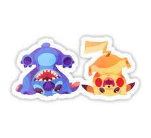 Stitch and Pikachu Sticker