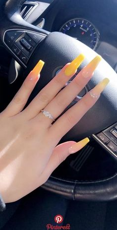 32 Lovely Jelly Nails Ideas That You Should Try! 32 Lovely Jelly Nails Ideas That You Should Try! Summer Acrylic Nails, Best Acrylic Nails, Acrylic Nail Designs, Acrylic Nails Yellow, Nail Summer, Acrylic Art, Spring Nails, Coffin Nails Long, Long Nails