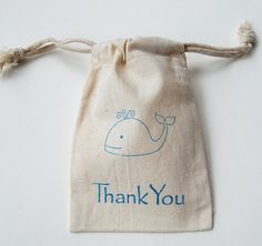 Whale Muslin Bags / Set of 10 / Perfect for by littlechicklets, $12.50