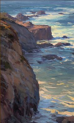 Garrapata State Park by Jesse Powell Oil ~ 24 x 14.5