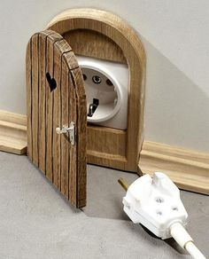 My kids would totally take this as an invite to play with the outlet...  Super cute tho!!!