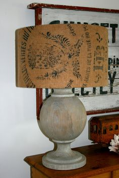 another grain sack lampshade