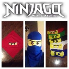 1 *New* LEGO Costume MASK NINJAGO Lloyd Kai Jay Cole,Zane Red Green Blue