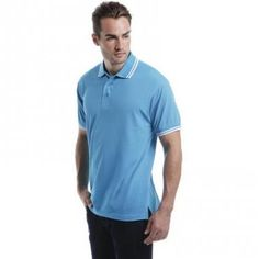 Kustom Kit Men's Tipped Polo shirt :: Clothing and Textiles :: Pebble  Promotions :