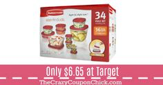 HOT! Early Access Deal! 34 Piece Rubbermaid Storage Set Only $6.65 at Target Target Deals, Storage Sets, Oatmeal, Breakfast, Hot, The Oatmeal, Morning Coffee, Rolled Oats, Overnight Oatmeal