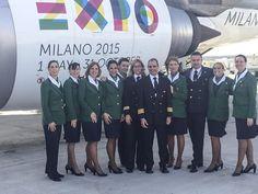 AZ Crew is ready for take off  #BIT2015 Borsa internazionale del Turismo - Alitalia stand #expo2015 #foody #alitalia