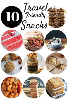 Snack smarter with these 10 healthier travel friendly snacks that are easy to take anywhere. These gluten free travel snacks range from vegan, grain free, dairy free, and paleo options.