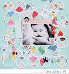 Sweet *AC DT - Scrapbook.com- multi colored layout packed with fun embellishments!