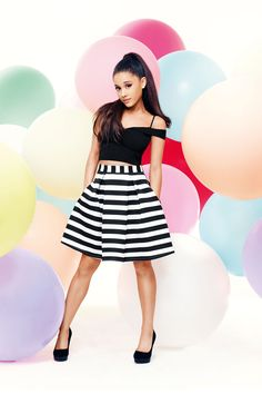 Ariana Grande's Amazing New Lipsy Collection! Ariana Grande for Lipsy is finally here, and you can get a sneak peek too! Ariana Grande Lipsy, Ariana Grande Fotos, Bardot Crop Top, Scream Queens, All Fashion, My Idol, Editorial Fashion, Hollywood, Celebs