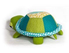 Turtle / tortoise softie pattern | YouCanMakeThis.com