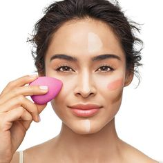A flawless finish! The Avon Pro Flawless Makeup Applicator features soft, suede-like texture which blends makeup seamlessly for a flawless finish. The unique shape helps eliminate visible lines and streaks.