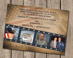 Vintage Military Retirement Party Invitation by AnnouncedCreations