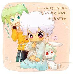 Tags: Anime, Pixiv Id 2160440, Inazuma Eleven GO, Inazuma Eleven GO Chrono Stone, Saryuu Evan, Fey Rune, Baby