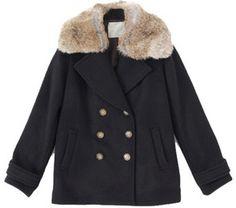 Pea coat with fur collar / ShopStyle(ショップスタイル): URBAN RESEARCH(アーバン リサーチ) Sonny Label ファー付ピーコート