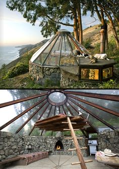 Greenhouse dome home of architect, Mickey Muennig.