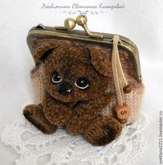 Любимый мишка 3 -кошелёк - бежевый,рисунок,кошелёк,кошелёк с фермуаром