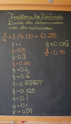 Waldorf ~ 5th grade ~ Math ~ Decimals ~ chalkboard drawing