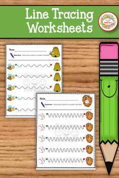 Learning to control a pen or pencil takes practice. Young learners need to strengthen the hand and finger muscles in order to learn how to write. These path of motion worksheets will help. #worksheets #linetracing #prewriting #prek #preschool Learning Resources, Teaching Ideas, Line Tracing Worksheets, Fine Motor Skills Development, School Reviews, Learn To Spell, Pre Writing, Teacher Organization, Kindergarten Activities